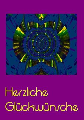 violette Blumenkarte 2