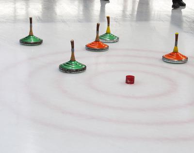 Eisstockschießen Zielfeld