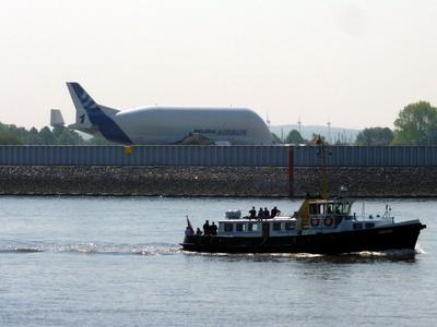 Flugzeug Beluga in Hamburg