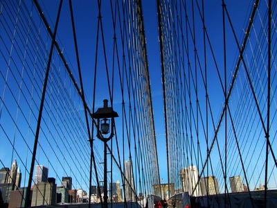 Fußmarsch über die Brooklyn-Bridge