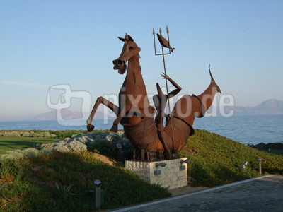 Neptun-Skulptur