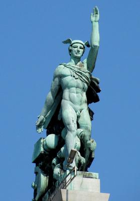 Merkur-Statue
