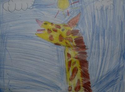 Kunstunterricht: Giraffe
