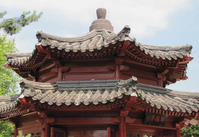 Chinesische Dachkonstruktion
