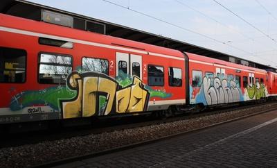 Grafitti-Zug