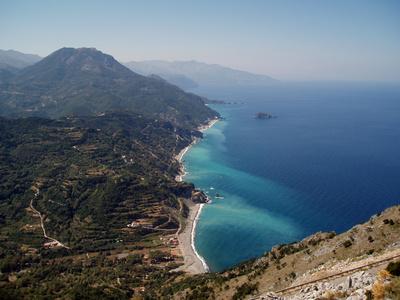 Mittelmeerbucht auf der griechischen Insel Evia (euboea)