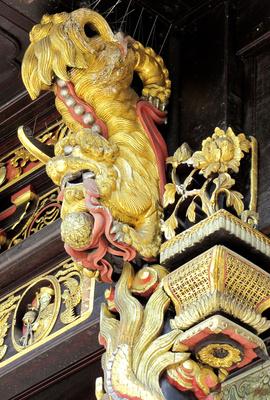 Vergoldeter Fassadenschmuck