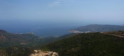 Panoramablick übers Meer