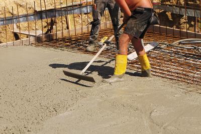 Hausbau - Fließbeton für das Fundament