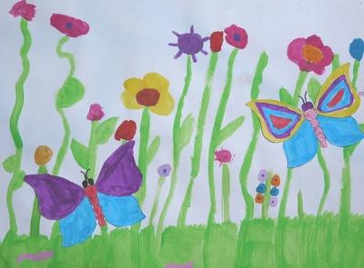 Blumenwiese (Kinderbild)