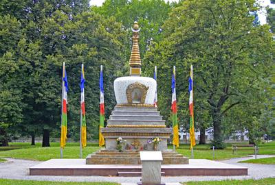 Stupa-Buddistisches Friendesmal