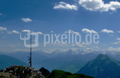 Antenne auf dem Gipfel