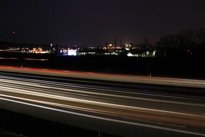 Nächtliche Autobahn
