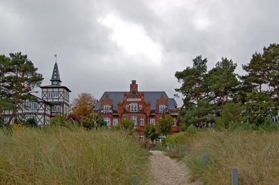 Im Regen am Strand von Binz auf Rügen