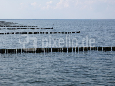 Wellenbrecher auf Usedom