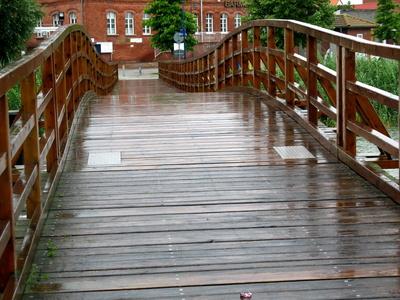 Holzbrücke bei Wolgast