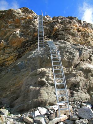 Leiternpassage zum Gletscher