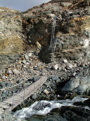 Abstiegshilfe zum Gornergletscher