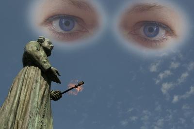 Blick auf Maastrichter Skulptur