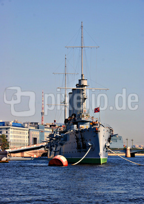"""Die """"Aurora""""  in Sankt Petersburg"""