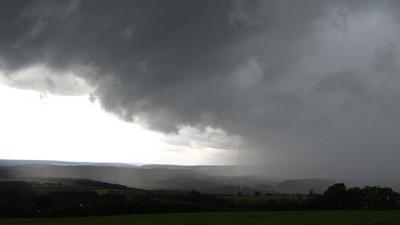 Schlechtwetterfront über dem Schwarzwald