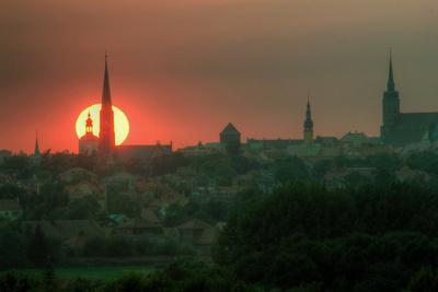 Sonnenuntergang über Bautzen (HDR-Technik)