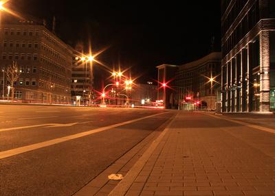 Nachts in der Großstadt - nix los