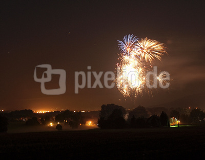 Feuerwerk in Niedercunnersdorf 2011