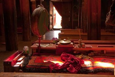 Gebetsraum in buddhistischem Kloster