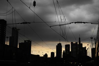 Dunkle Wolken über Frankfurts Finanzwelt...
