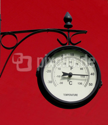 Thermometeruhr