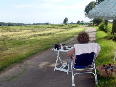Picknick auf einem Feld bei Wittorf