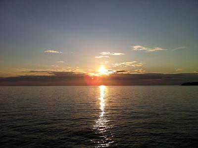 Abendhimmel über Istrien
