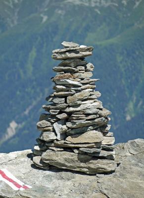 Walliser Steinpyramide