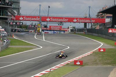Vettel Start/Ziel-Gerade