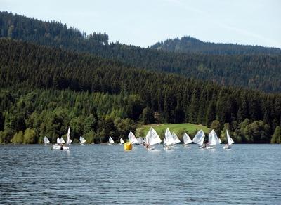 kleine Regatta am Schluchsee
