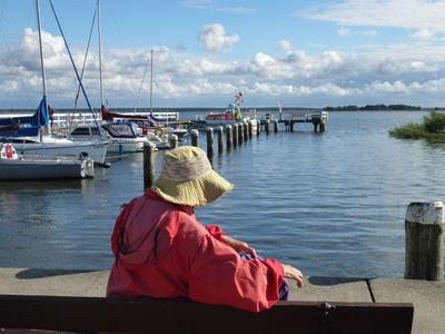 Yachthafen in Wieck in Fischland