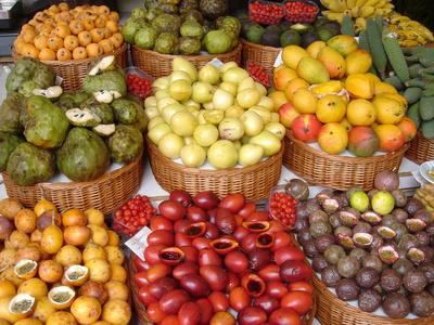 Obst- und Südfrüchte