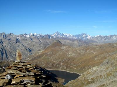 Berner und Urner Alpen vom Giübin aus