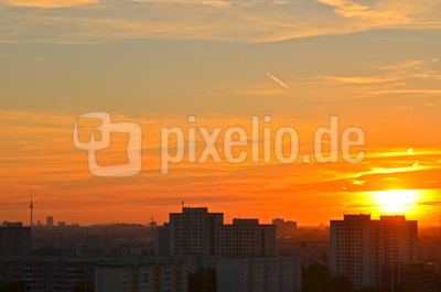 Berlin - kurz vor Sonnenuntergang