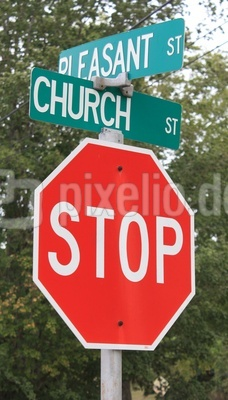 Stop for the pleasant church