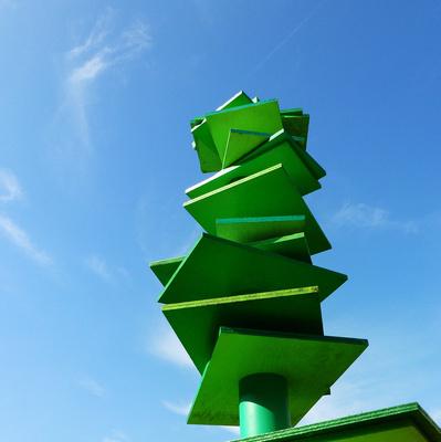 Abstrakt - blau-grün