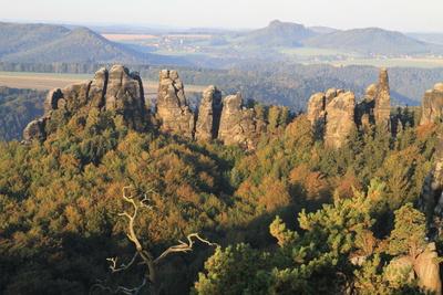 Schrammsteinblick -Oktobermorgen