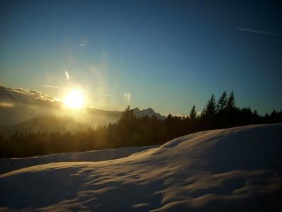 Sonnenuntergang auf dem Rigi