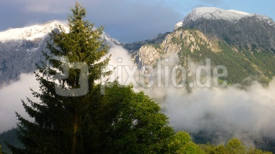 Neuschnee in den Berchtesgadener Alpen