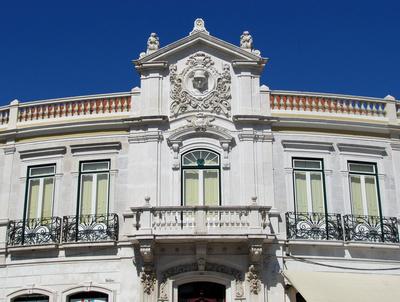 Verzierte Hausfassade in Belem