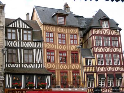 Fachwerkhäuser in Rouen (Frankreich)