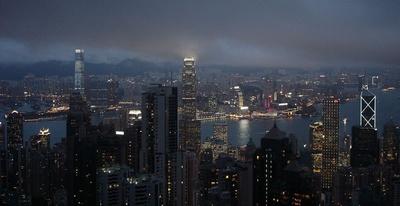 Hongkong, zur blauen Stunde
