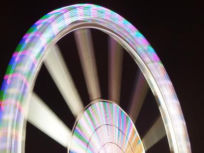 Riesenrad rotiert