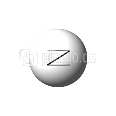 Kugel mit Buchstabe Z - Ball with letter Z